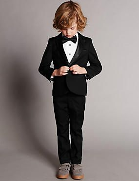 4 Piece Supercrease™ Tuxedo Outfit (1-7 Years)