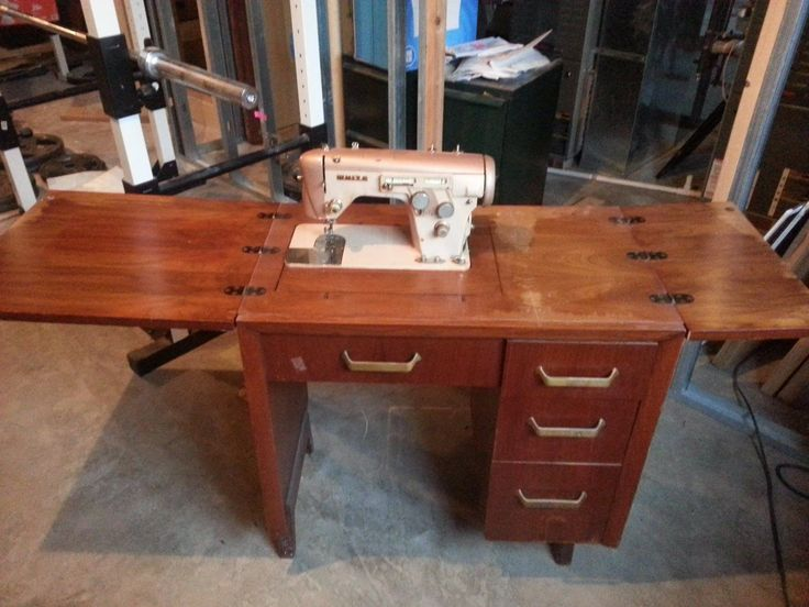 Antique Sewing Machine Cabinet White Brand White