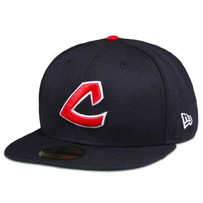 Men's Cleveland Indians New Era Navy Cooperstown On-Field Fitted Hat