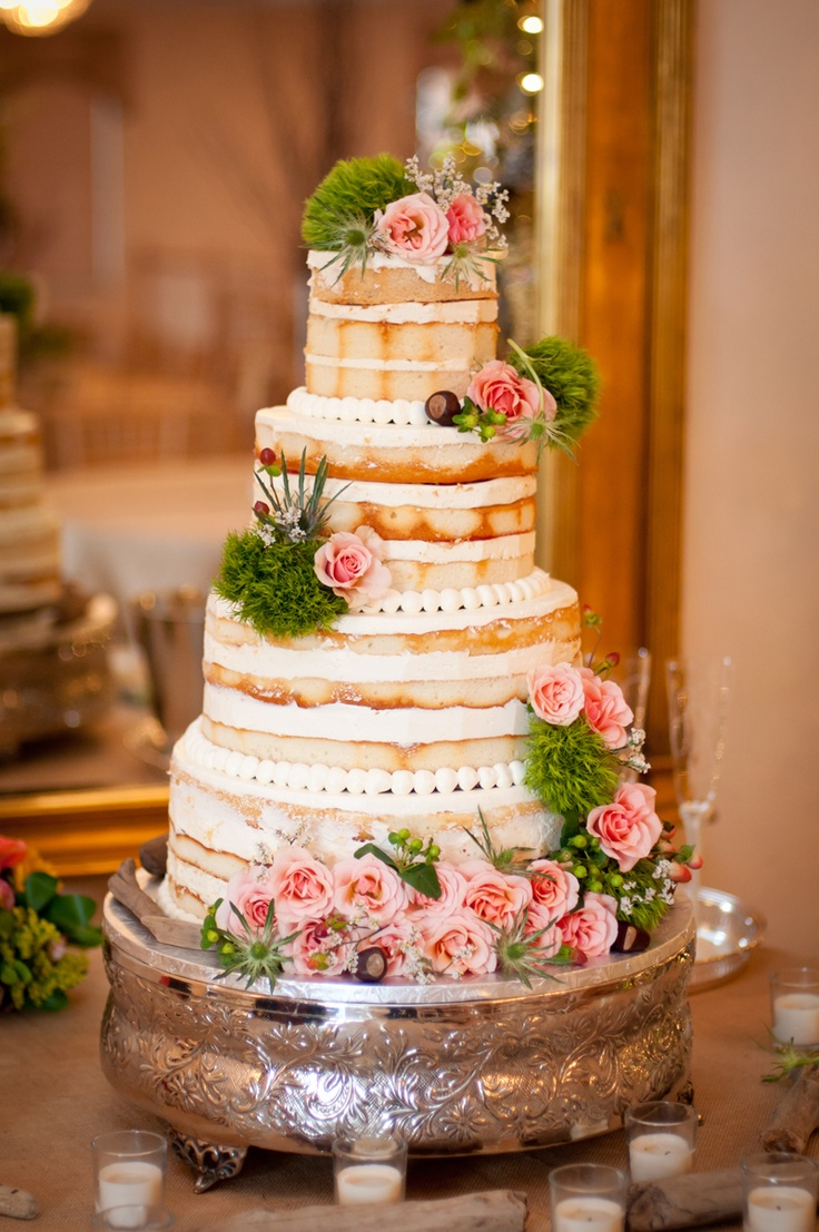I love this. let the cake and taste speak, not the design and overpowering icing,   beautiful rustic cake WITHOUT crazy icing!!!!
