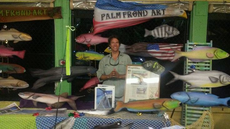 Palm Frond Fish at Cape Coral Sunset Celebration 12-7-2016 Art by Dale Werner https://palmfrondart.wordpress.com/    http://dalewerner.com/
