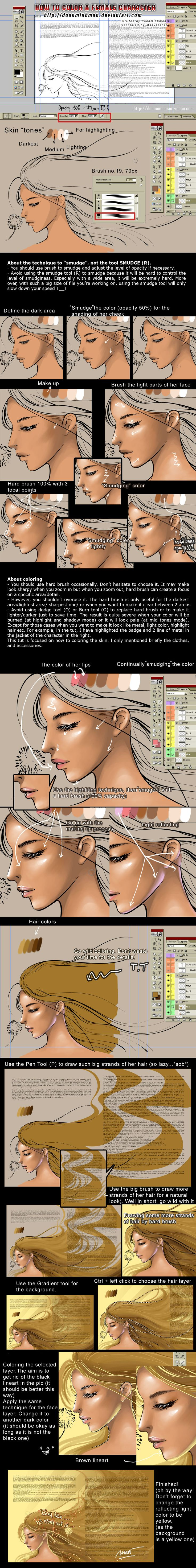 How to colour female character by ~doanminhman on deviantART