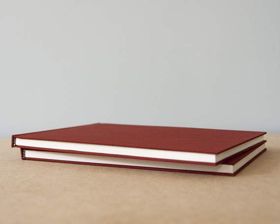 Large Horizontal Rust Hardcover Notebook  Sketchbook