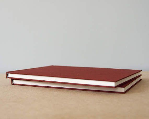 Large Horizontal Rust Hardcover Notebook  Sketchbook