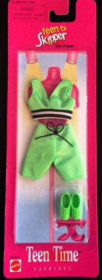 NEW ~ 1997 Teen Skipper Teen Time Fashion Lime Green Shorts Set #68028-95