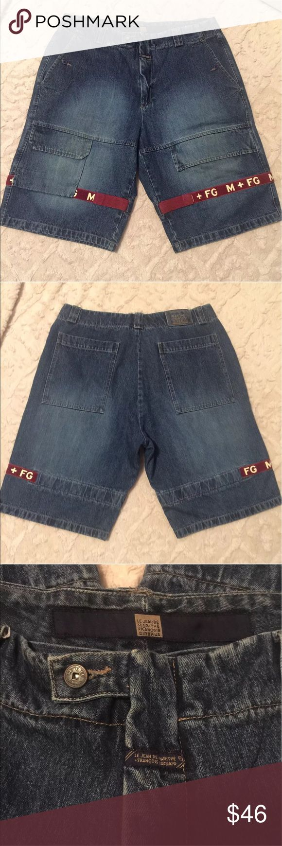 """Marithe Francois Girbaud Shuttle Strap Shorts Good condition, no stains or flaws Material: Cotton Blend Size: 38 Waist 19"""" Length 25 1/2"""" All measurements are taken laying flat and are not doubled. Marithe Francois Girbaud Shorts Jean Shorts"""