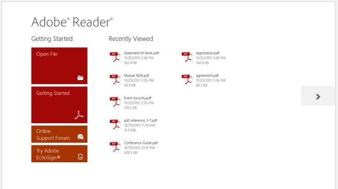 Free Download Official Adobe Reader Apps For Windows 8