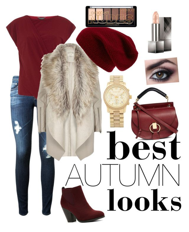 """""""the autumn sett"""" by szabo-b-aniko on Polyvore featuring AG Adriano Goldschmied, Dorothy Perkins, River Island, Call it SPRING, Chloé, Sole Society, Michael Kors and Burberry"""
