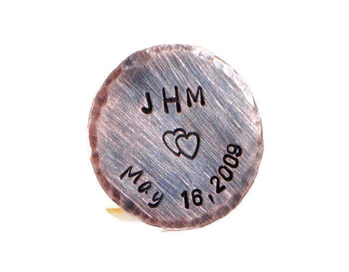 Personalized Copper Pocket Token.