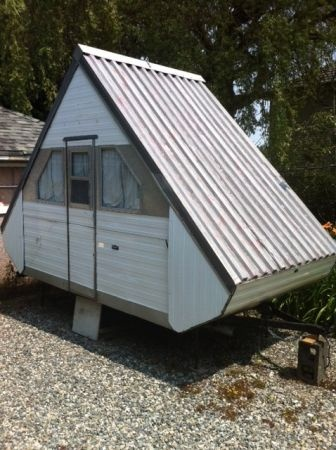 "1966 Dualcraft Tent trailer ~ May be too small for actual home, but would make a wonderful ""guest cottage"""