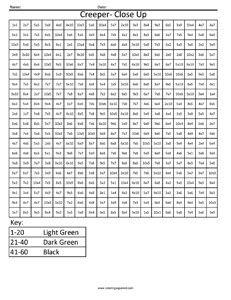 Minecraft Creeper- Advanced Multiplication - Coloring ...