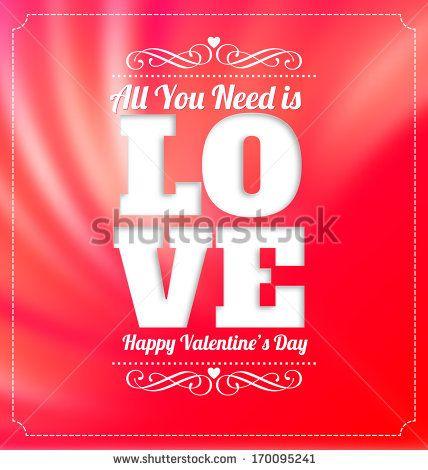 Typographic Valentines Design by Vilmos Varga, via Shutterstock