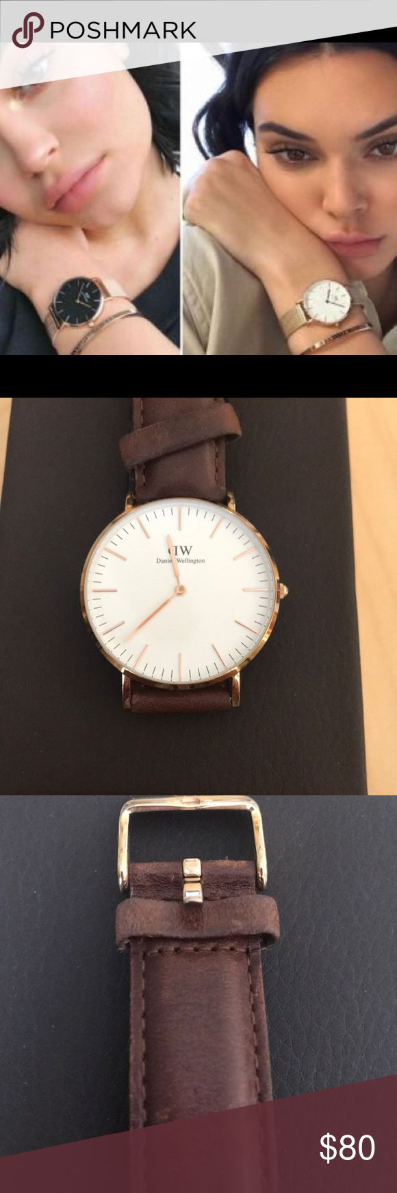 Daniel Wellington Watch - excellent condition Daniel Wellington - great condition with minor sign of wear. Dollar bill is for size reference only and is not included in the sale.   So classy looking! Accessories Watches