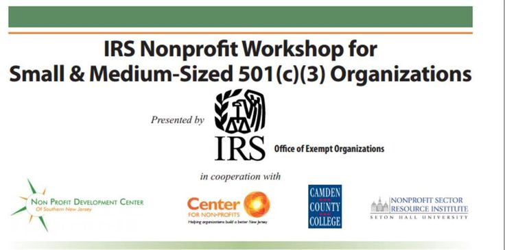 IRS Nonprofit Workshop - Seton Hall University  http://www.eventsbot.com/events/eb945526765