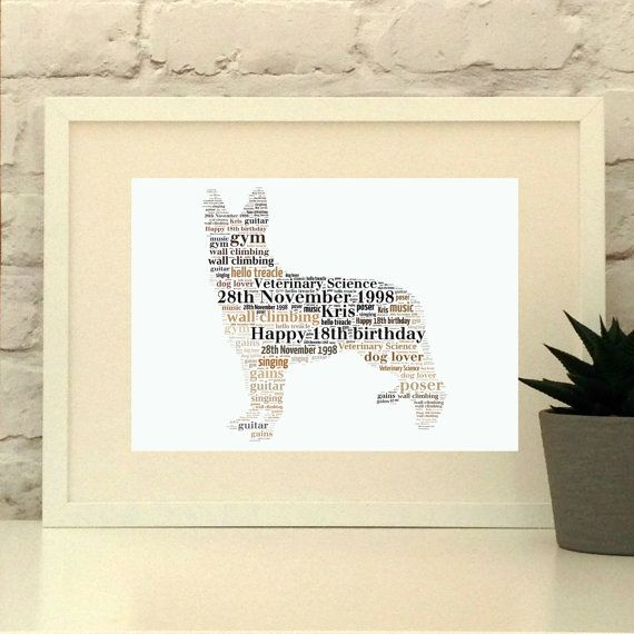 German Shepherd Alsatian Personalised Print German Shepherd