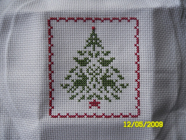 Cross Stitch Christmas Tree Ornament #2 by Judy Whitman (JBW Designs)
