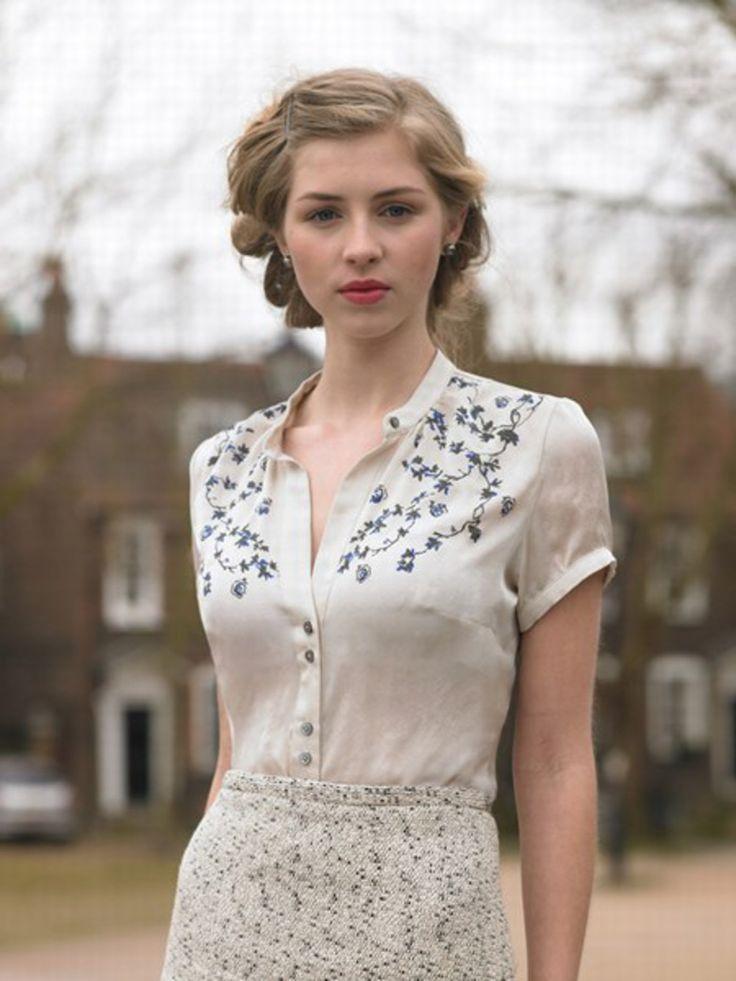 Corfield Shirt and tweed skirt | Summer 2010 | Katherine Hooker