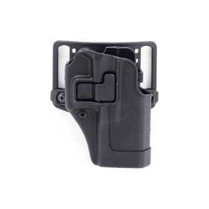 BlackHawk CQC SERPA Belt Holster Right Hand Black Glock 19/23/32/36 Carbon Fiber Belt Loop and Paddle 410502BK-R