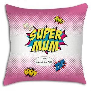 super mum personalised cushion