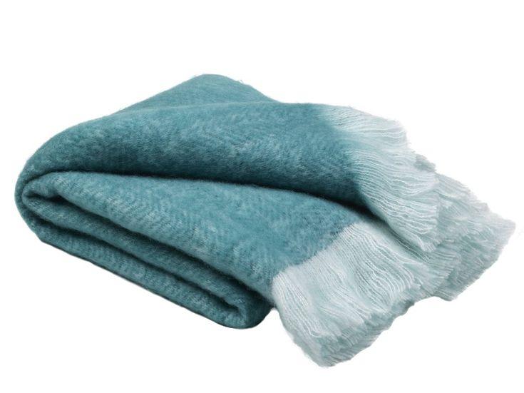 "Lilliana Mohair Solid Teal Throw Blanket 50"" X 60"""