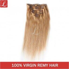 Latest Hair Extensions Color#27 8pcs/set 20Clips Remy Hair Clips In Extensions http://www.latesthair.com/