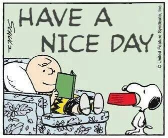 'Have a Nice Day' Charlie Brown...AFTER you Feed Snoopy.