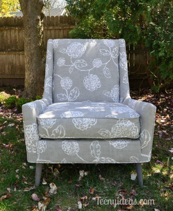 Mid Century Modern Chair Makeover :: Hometalk Redone chair!