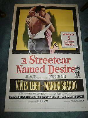 A STREETCAR NAMED DESIRE(R-58)MARLON BRANDO 1SHEET