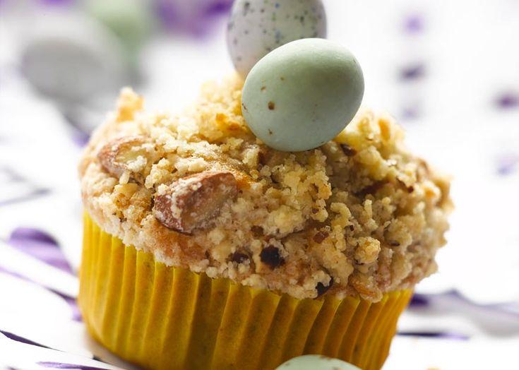 Muffins opskrift til påske - med nougat og marcipan - se her