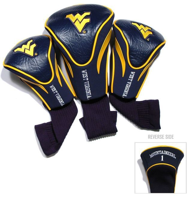 West Virginia Mountaineers Golf Club 3 Piece Contour Headcover Set Z157-3755625694