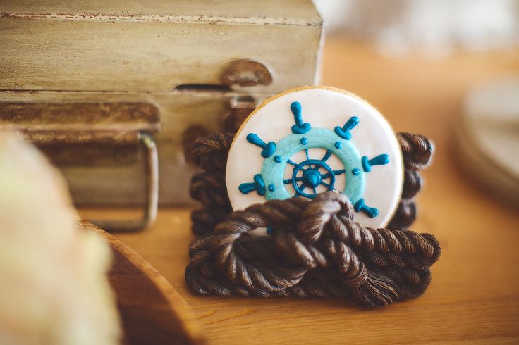 first birthday boy sea party decor cookie decor by Julia Shteyzel декоратор Юлия Штейзель