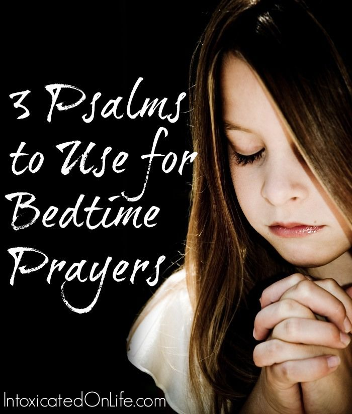 Make a Sunday School lesson around this:  3 Psalms to use for Bedtime Prayers. Help fill your child's mind with God's word as they drift to sleep each night.