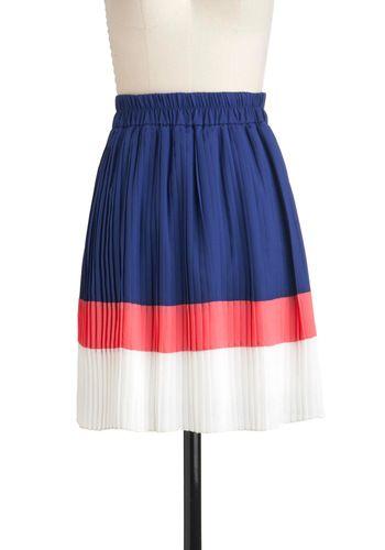 color block skirt via ModCloth.
