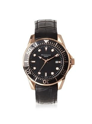 80% OFF Rudiger Men's R2000-09-007L Chemnitz Rose and Black Luminous Watch