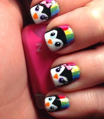 Rainbow Penguins - Punkys Polish
