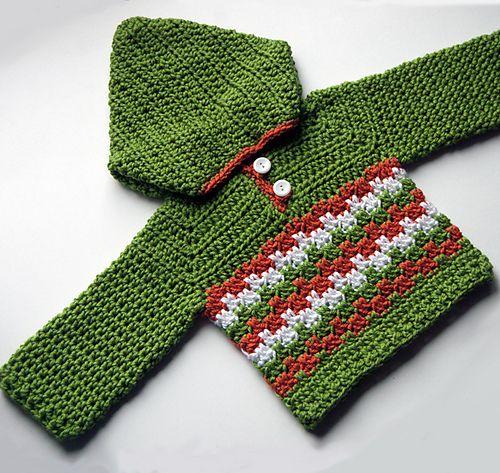 Ravelry: Leaping Crochet Baby Hoodie pattern by Tamara Kelly