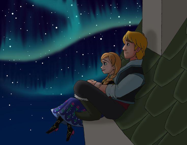 frozen disney anna and kristoff kiss