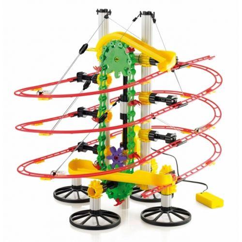 200 db-os golyópálya,Skyrail Roller Coaster - 8 éves kortól - Quercetti