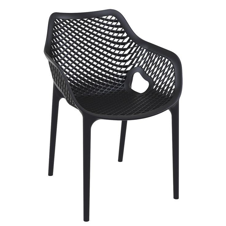 Der Outdoorstuhl AIR XL aus Kunststoff ermöglicht durch das durchgehende Lochmuster in der Sitzschale eine ungebremste Luftzirkulation und sorgt so dafür, dass Ihre Gäste nicht anfangen zu schwitzen. Auch designtechnisch wirkt dieses...