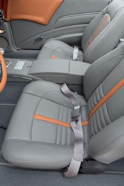 1968 Chevy Camaro Convertible grey orange custom interior console
