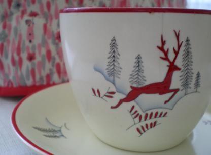 Track down some Vintage Tea Style on Ebay - Crown Devon Stockholm china. Apres ski tea treat...