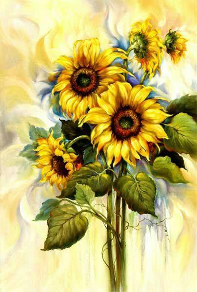Картинки подсолнухи красивые нарисованные