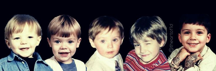 Baby Direction: Tommo, Hazza, Nialler, Daddy Direction, and DJ Malik.♥️