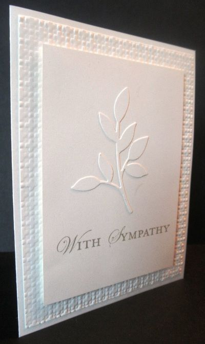 Sympathy   Simple White On White   Square Lattice Embossing Folder , Little  Leaves Sizzzix