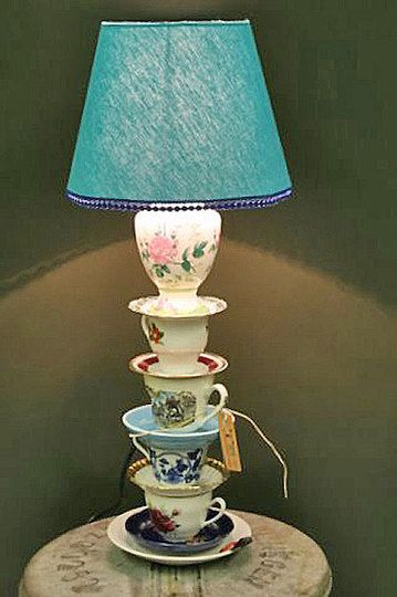 Tea Cup Lamp - LOVE this!!! x                                                                                                                                                                                 More