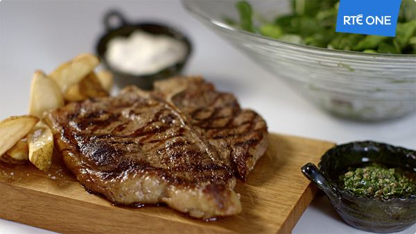 ... grilled t bone steak horseradish cream salsa verde beef recipes food