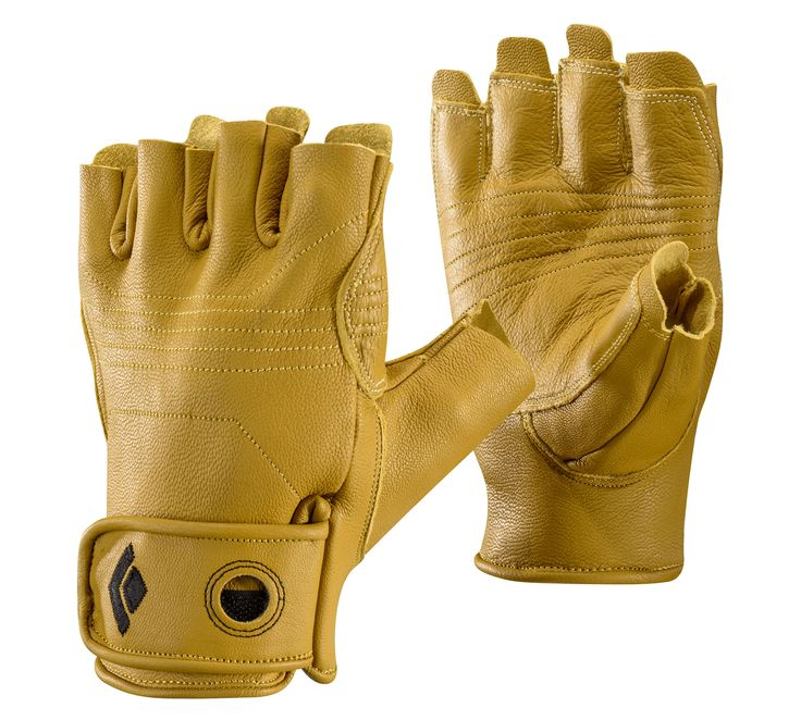 A half-finger leather glove for dexterity-crucial climbing activities such as belaying, aid climbing and jugging....