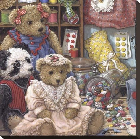 Buttons N' Bears Reproducción de lámina sobre lienzo por Janet Kruskamp en AllPosters.es