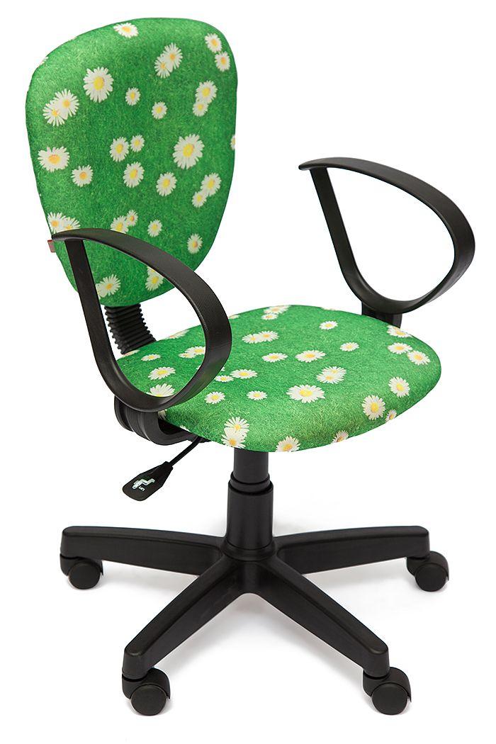 Великолепное компьютерное кресло от компании-производителя Tetchair с рисунком «Ромашки на зеленом» подарит вашей маленькой моднице отличное настроение за уроками!  Это кресло может с успехом использоваться в течение школьной поры потому, что его прочные механизмы прослужат долгие годы, а ткань с принтом, которой обшито кресло, очень устойчива к износу! Несложный механизм позволит с легкостью отрегулировать высоту кресла даже самой маленькой школьнице!