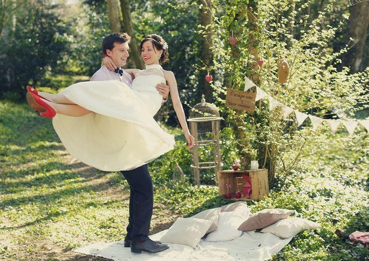 Reportage sol ne guillaume mariage champ tre chic voyage chic and - Deco mariage bucolique ...